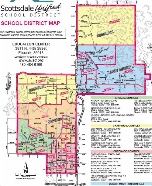 Scottsdale School District boundary maps - Arizona Real